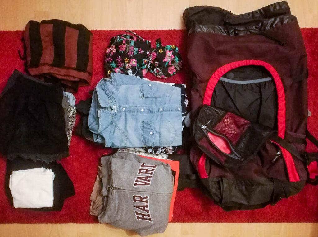 Die Rucksäcke werden wieder ausgepackt